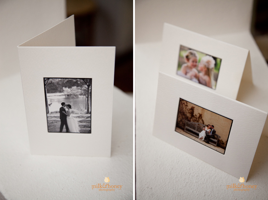 Milk and Honey Photography Thank You cards