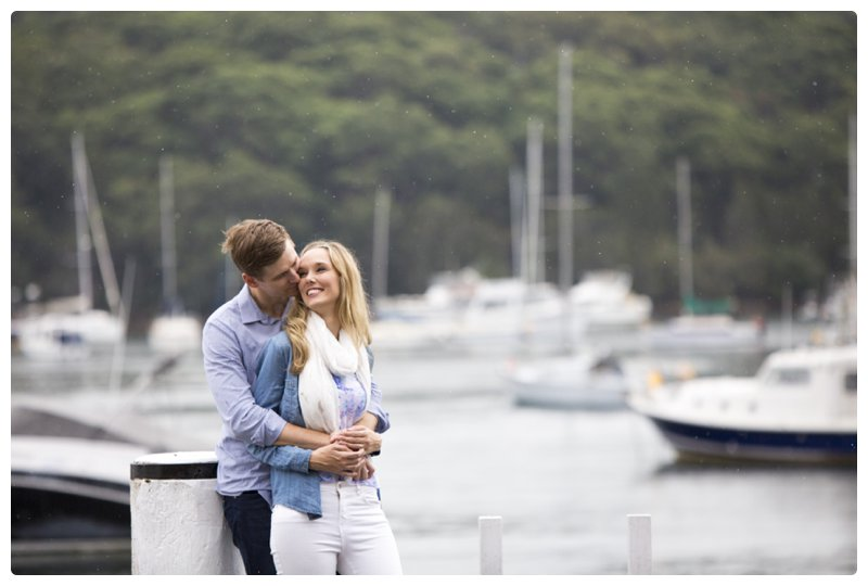 Beautiful boathouse engagement session